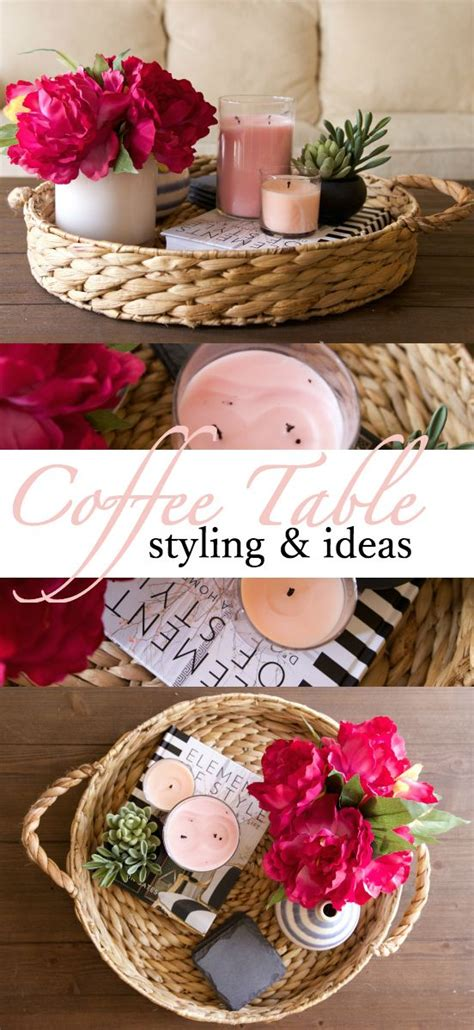 how to decorate a coffee table best 25 coffee table tray ideas on wooden