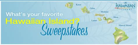 Hawaiian Airlines Sweepstakes 2016 - hawaiian airlines quot what s your favorite hawaiian island quot sweepstakes win 80 000