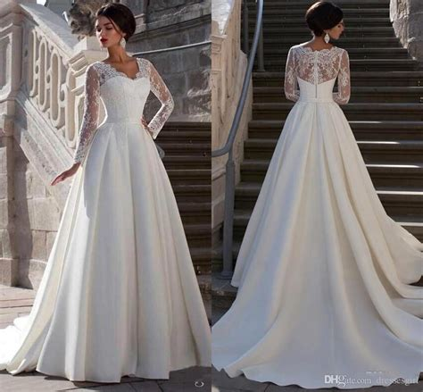 Promo Promo Termurah Dress Gucci V sleeve lace wedding dress designers dresses with sleeves eilag