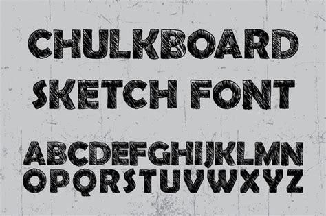 sketchbook font chulkboard sketch font befonts