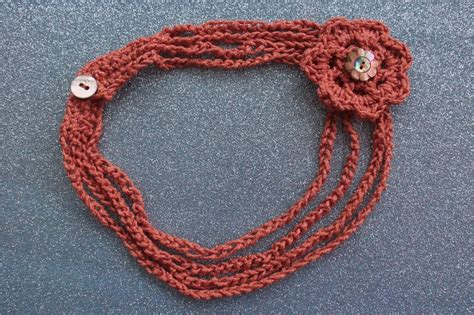 crochet pattern jewelry crochet necklace