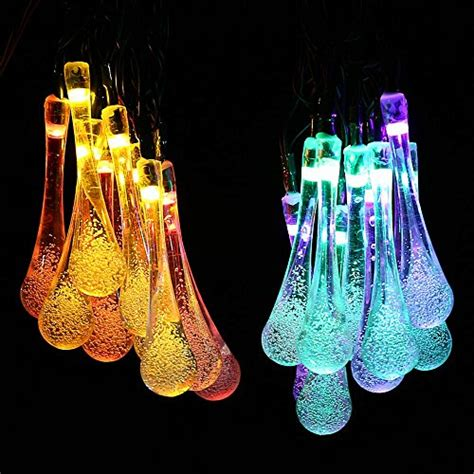led icicle string lights with drop icicle solar led string lights water drop