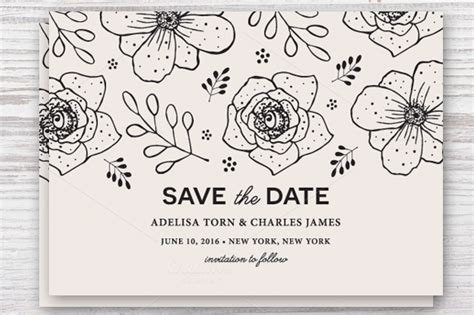 Check Out These Adorable Save The Date Templates Save The Date Invitation Templates Free