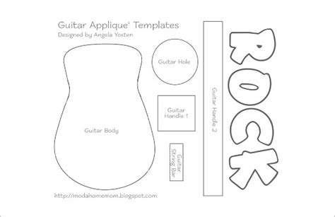 17 Awsome Guitar Cake Templates Designs Free Guitar Templates Free
