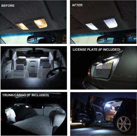 Car Lighting Package 17 Pcs White Car Led Interior Lights Package Kit For 2011