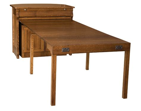 frontier island buffet with pull out table amish
