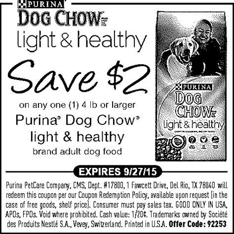 purina light and healthy family dollar save 2 on purina dog chow
