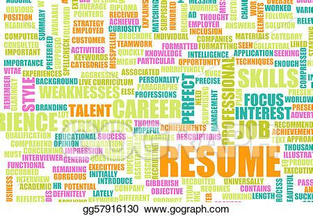 Job Resume Format Download by Stock Illustration Job Resume Clipart Gg57916130 Gograph