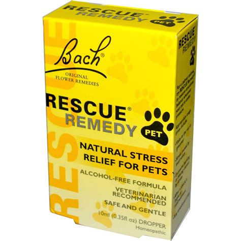 rescue remedy dogs bach original flower remedies rescue remedy pet free formula 0 35 fl oz