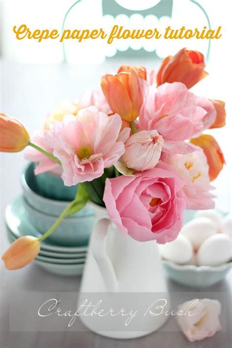 paper flower tutorial tulips crepe paper tulip tutorial craftberry bush bloglovin