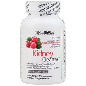 Kidney Detox Supplements by Health Plus Kidney Cleanse 90 Capsules Save 30