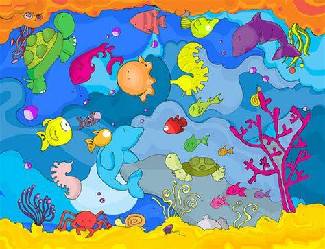 pattern energy chile bajo el mar dibujos recortables y posters de animales
