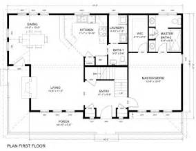 First Floor Plan The Easton Huntington Homes