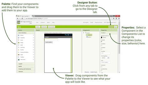 design app inventor designer and blocks editor explore mit app inventor