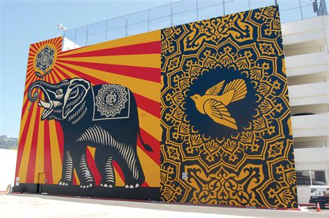 shepard fairey mural creates hope for bright future park