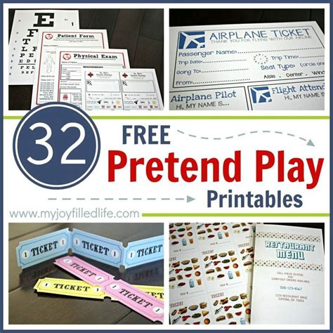 printable play tickets 25 best ideas about pretend play on pinterest dramatic