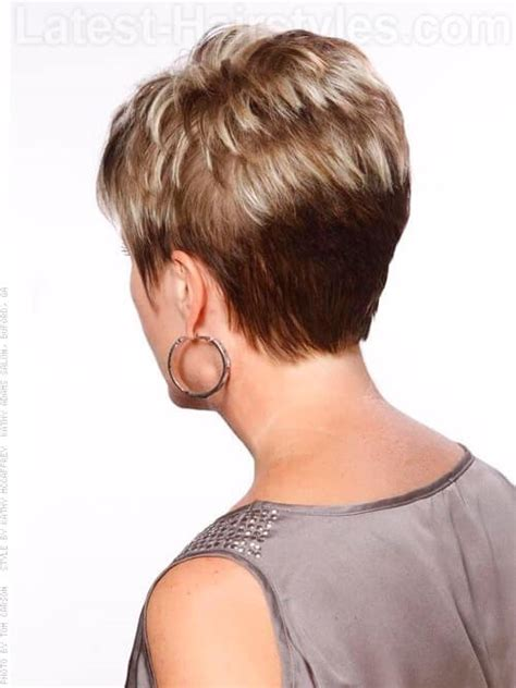 over 50 short hairstyle front and back views pics for gt short haircuts for women over 50 front and back