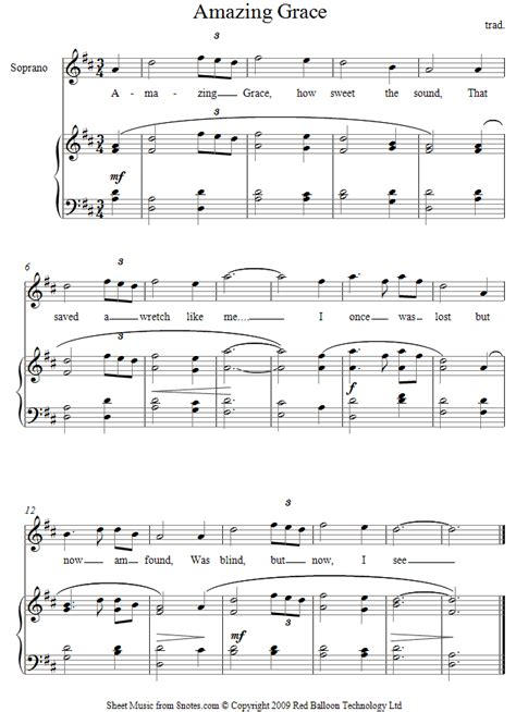 printable sheet music amazing grace amazing grace sheet music for voice 8notes com