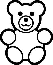 Teddy Outline Images by Circle Teddy Black And White Clip At Clker Vector Clip Royalty Free