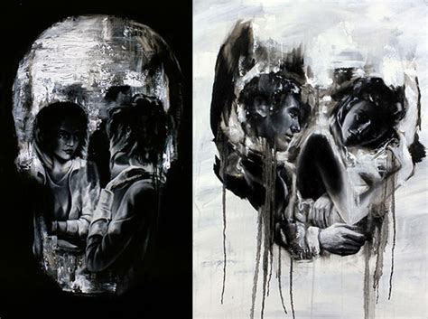 stunning skull art in all kinds of forms design swan