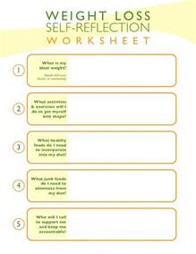 weight loss self reflection worksheet