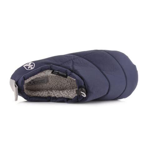 men bedroom slippers mens bedroom athletics burton navy cosy fleece lined