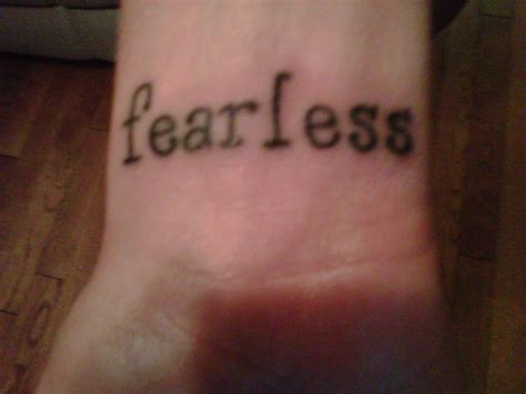 fearless tattoos fearless quotes tattoos quotesgram