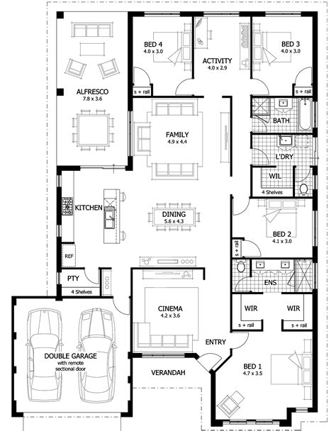 master bedroom with ensuite floor plans and open closets