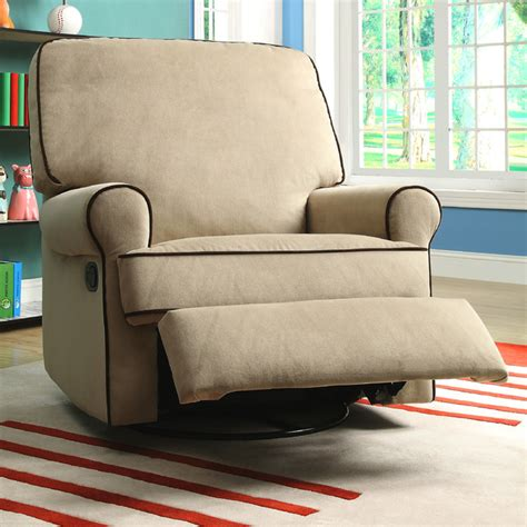 swivel glider recliner nursery chair sand fabric nursery swivel glider recliner chair