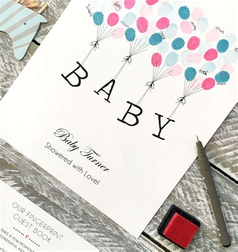 Baby Shower Thumbprint by 1000 Ideas About Fingerprint Guest Books On