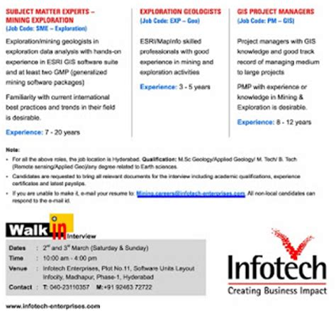 software units layout infocity madhapur infotech walkin interview in hyderabad on 2nd 3rd march
