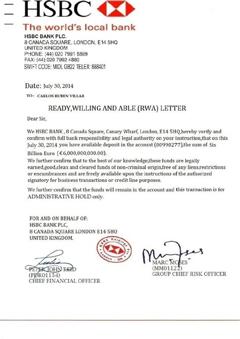 hsbc letter head the whistleblowers carlos ruben villar counterfeit