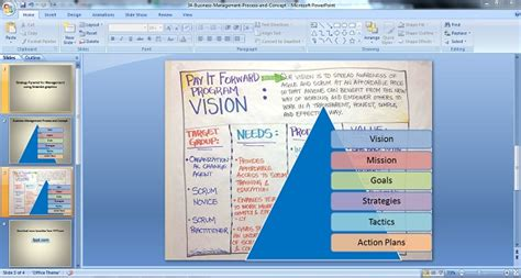 Vision Board Powerpoint Template Powerpoint Vision Board Template Strategy Pyramid For Management Using Smartart Graphics