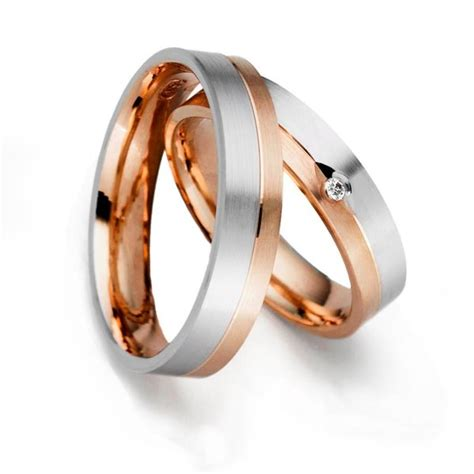 eheringe set set eheringe trauringe faithful 5 mm in rosegold im