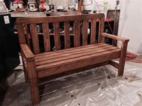 plastic bench ends 2x4 diy 2x4 bench howtospecialist how to build step by