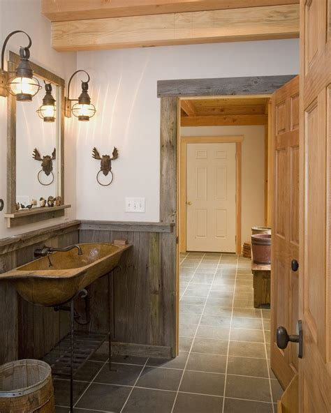 bathroom trim ideas barn wood trim ideas bathroom rustic with post and beam
