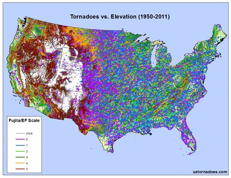 altitude maps united states tornadoes don t happen in mountains or do they debunking