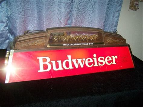Budweiser Pool Table Lights by Vintage Budweiser Pool Table Light With Clydesdales Team