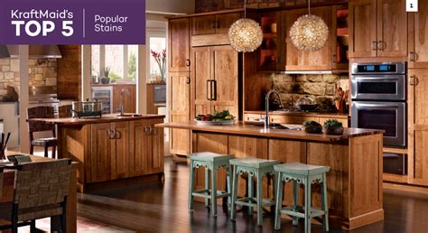 most popular kitchen cabinets top 5 s kraftmaid s most popular kitchen cabinet stains