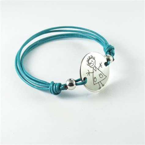 pulseras personalizadas cuero pulsera de plata personalizada redonda con cordon de cuero
