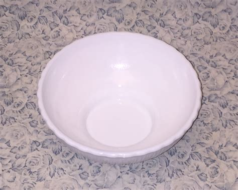 flower pattern milk glass vintage ftd white milk glass bowl flower planter dish tree