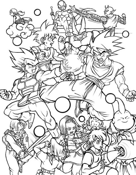 coloring pages of dragon ball z characters all characters in dragon ball z free printable coloring