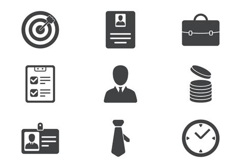 Business Card Icon Set