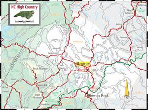 map boone carolina high country nc map