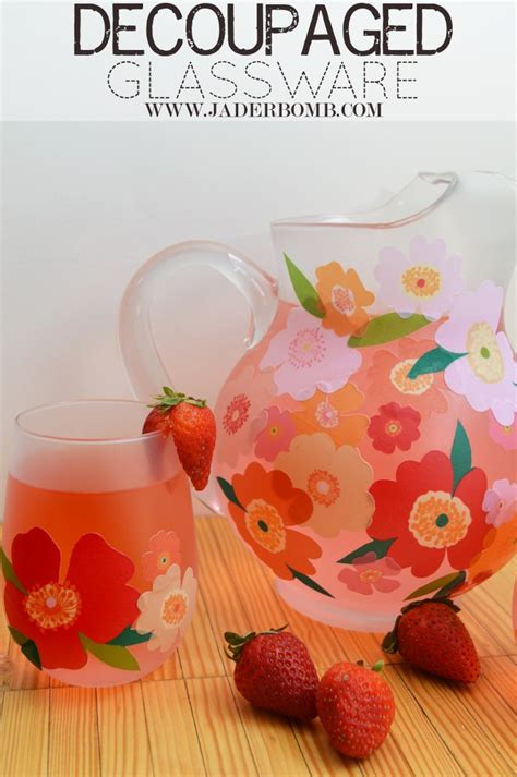 How To Decoupage Glass - easy fall decor decoupage on glass pitchers and