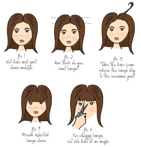 how to cut your own bangs at home alldaychic