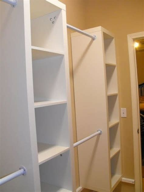 Cheap Custom Closets by Expedit Shelving In A Walk In Closet Is A Cheap