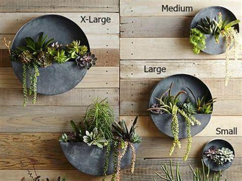 orbea circle zinc wall planters metal wall planters