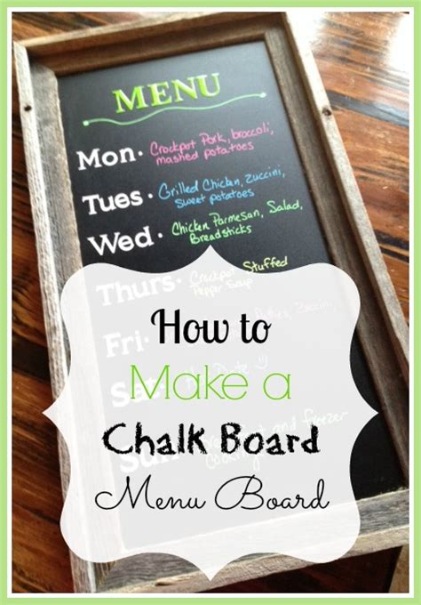 how to make a kitchen recipe board echoes of laughter how to make a chalk board menu board