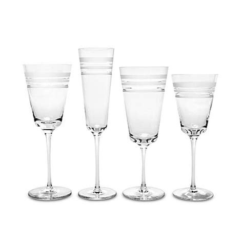 kate spade barware kate spade new york library stripe crystal stemware bed